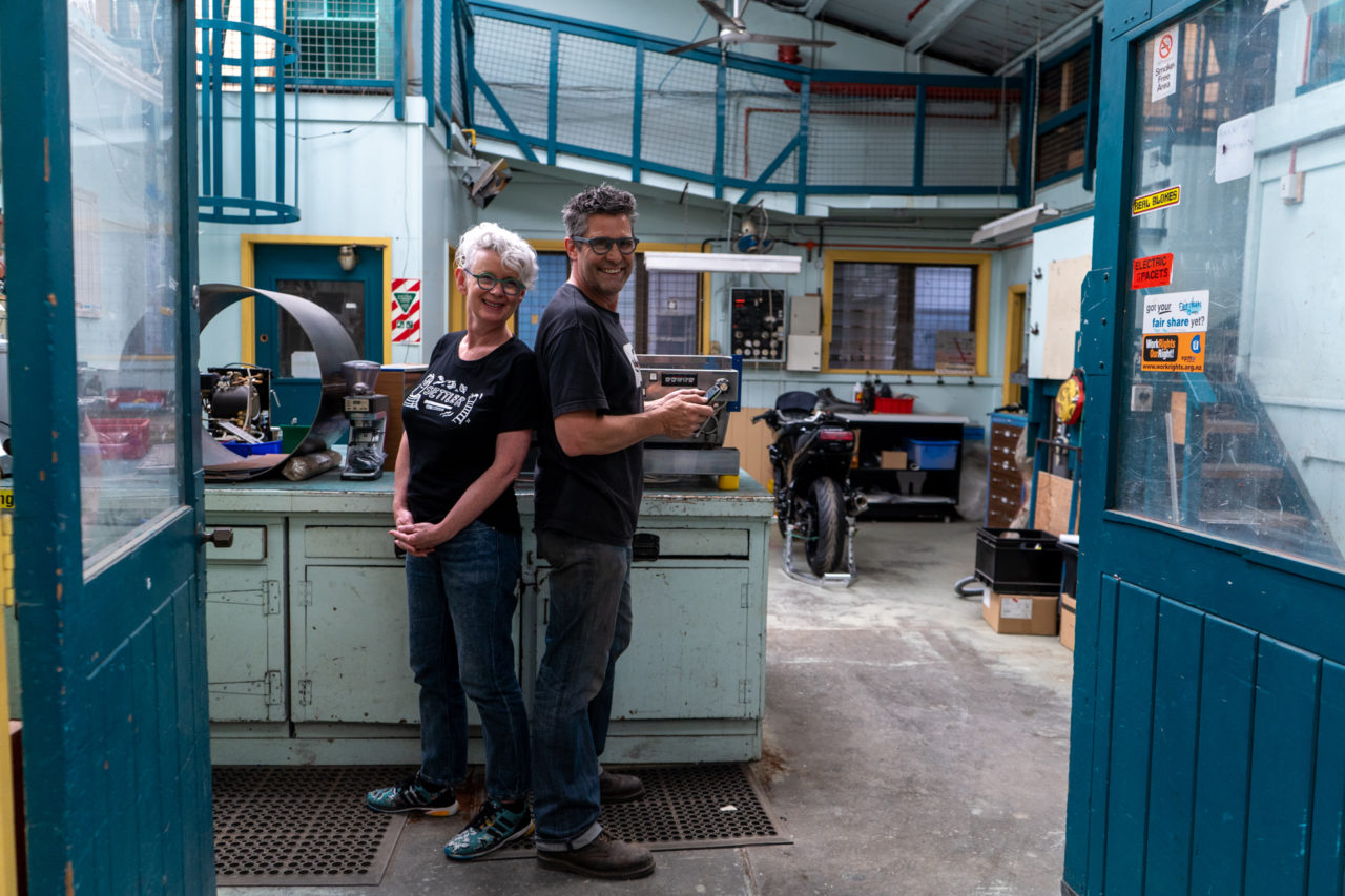 Cate and Jason Ripe Coffee Roasters, La Marzocco Roaster in Residence